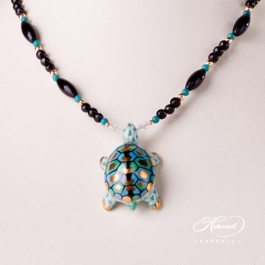 乌龟项链 – 绿色- 赫伦细瓷