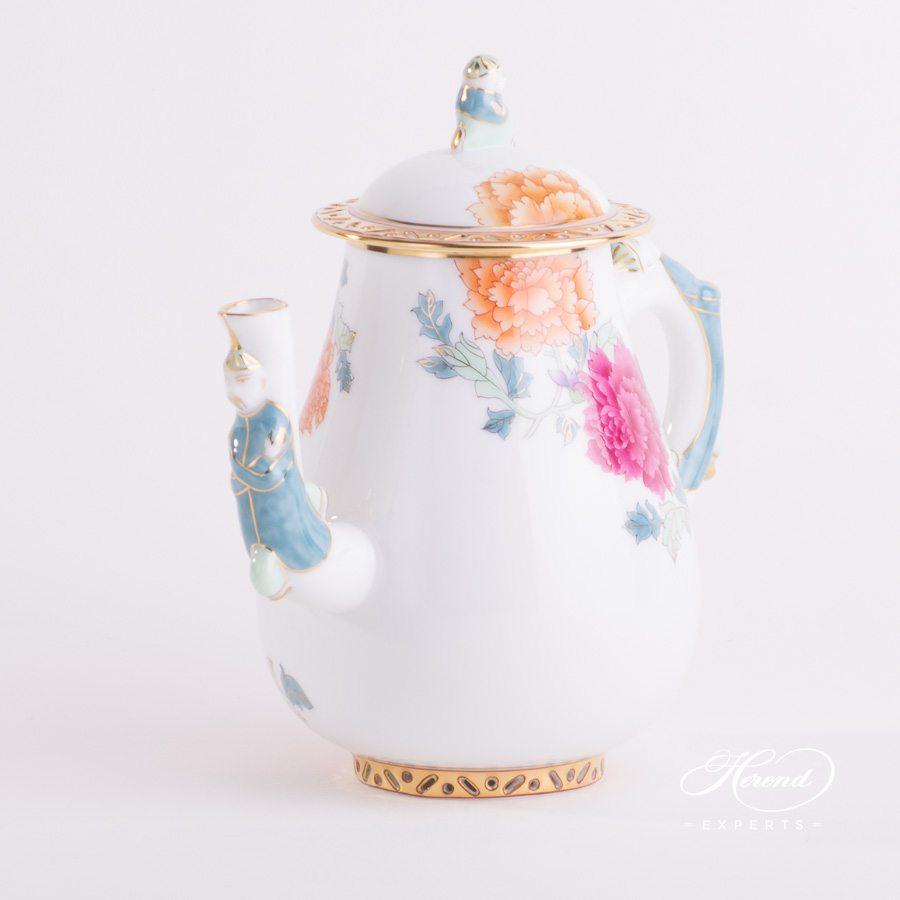 咖啡壶 – 粉牡丹 – 赫伦细瓷