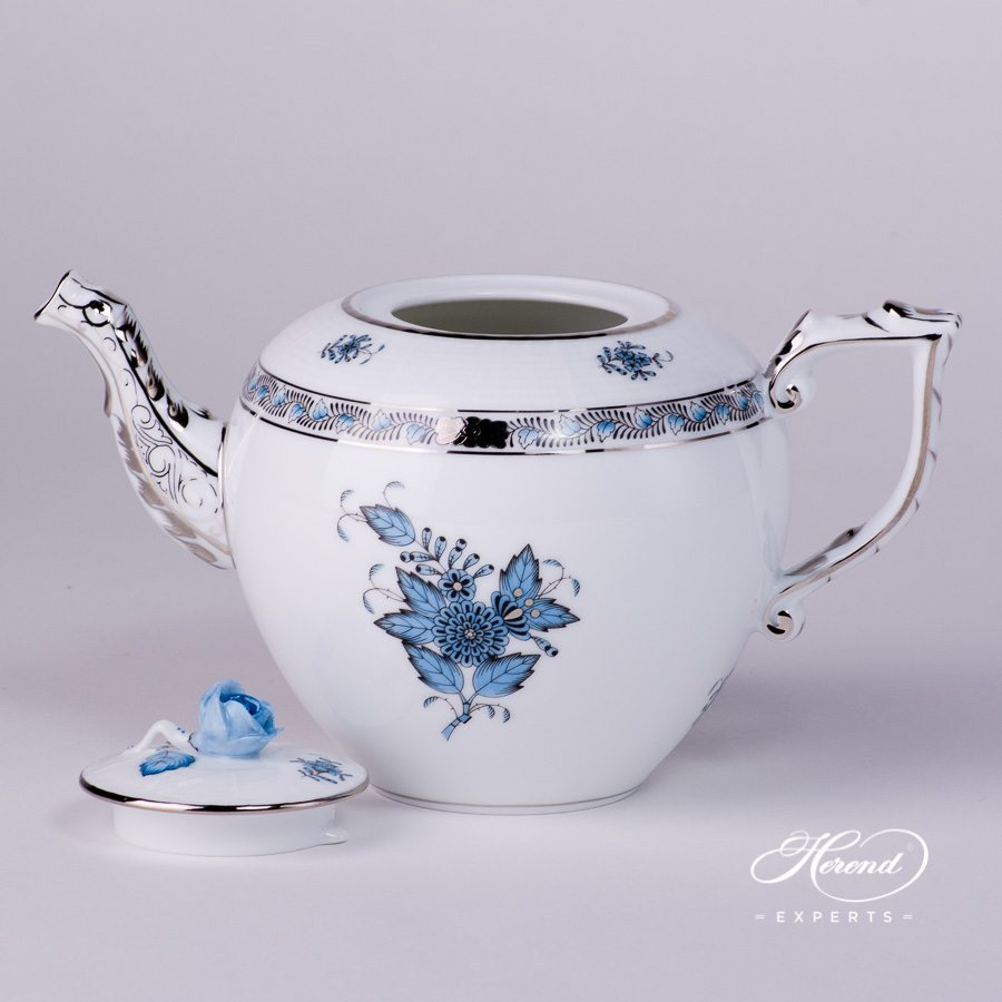 茶壶 – 中国花束 / 阿波尼绿松石 – 赫伦细瓷