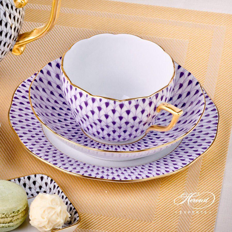 双人份茶具套装 – 鱼鳞纹 – 赫伦细瓷