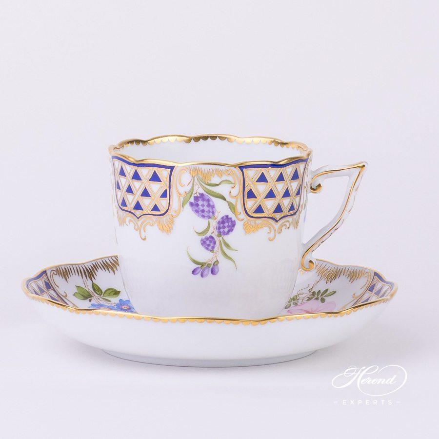 咖啡杯 – 马赛克鲜花- 赫伦细瓷
