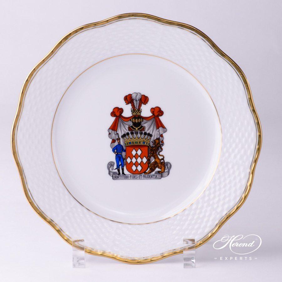 Serving Plate – Hadik w. Coat of Arms – 赫伦细瓷