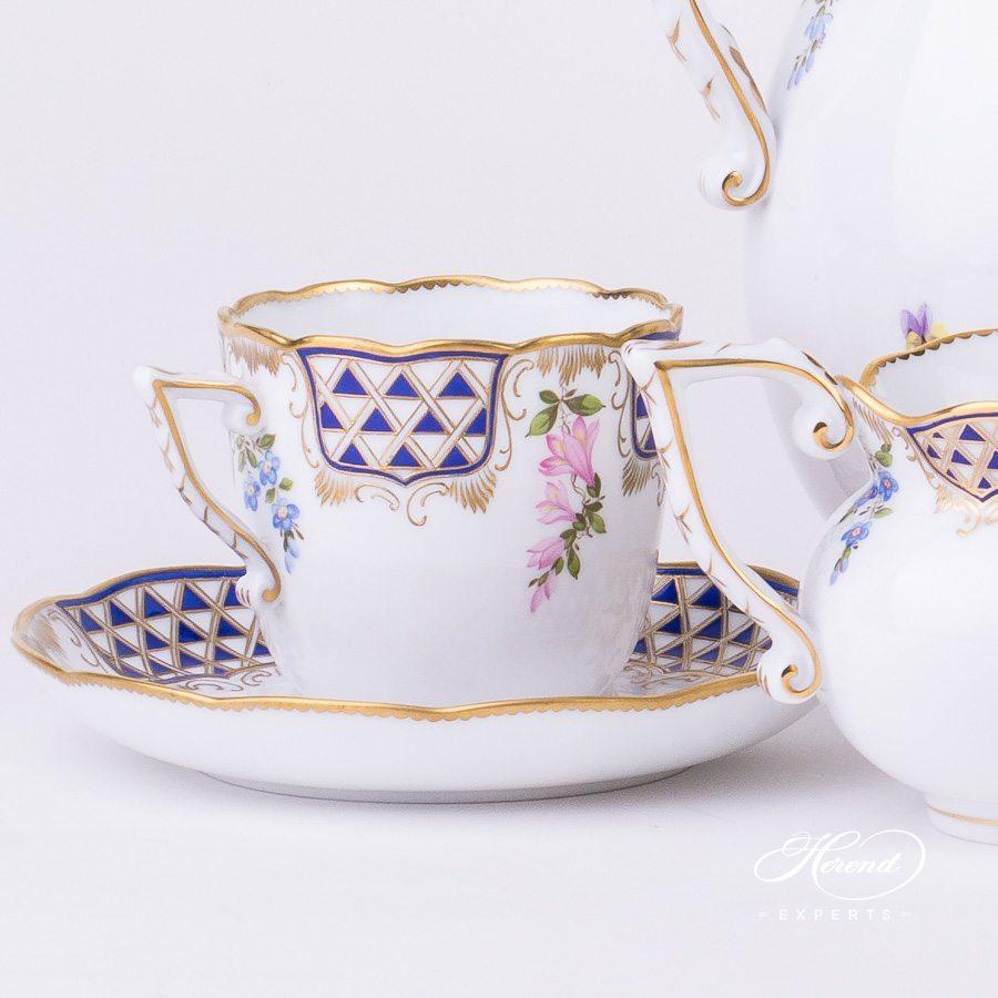咖啡套装 双人用 – 马赛克鲜花 – 赫伦细瓷
