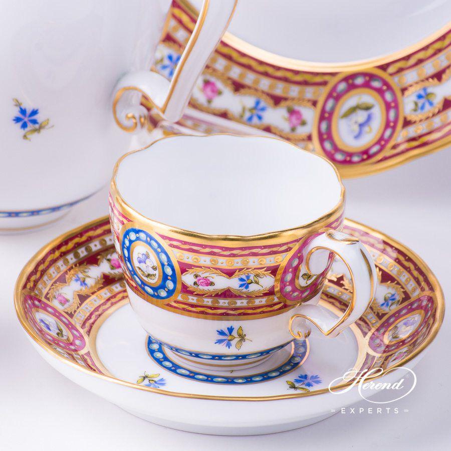 摩卡杯 – 织锦蔷薇 – 赫伦细瓷