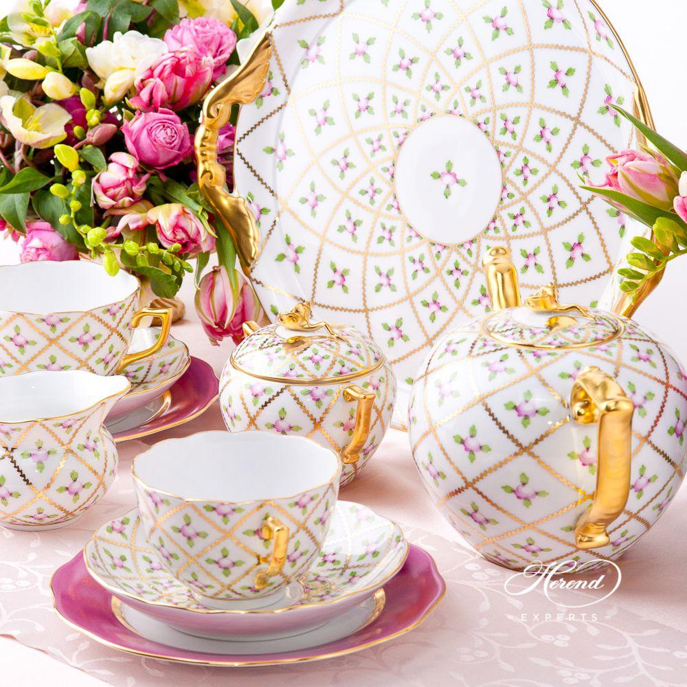 蛋糕盘 – 赛弗勒玫瑰 – 赫伦细瓷