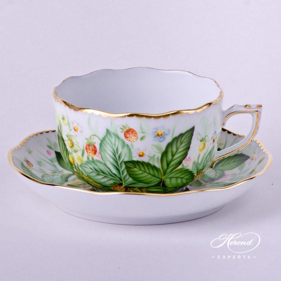 茶杯 – 草莓 – 赫伦细瓷