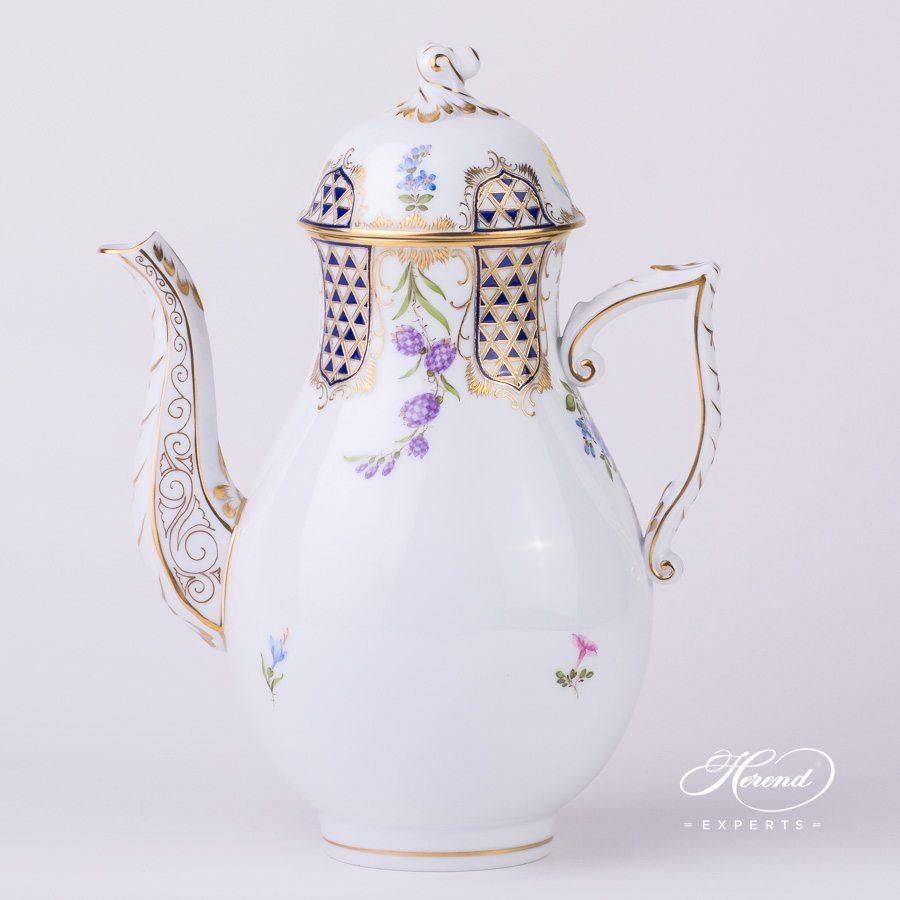 咖啡壶 –马赛克鲜花- 赫伦细瓷