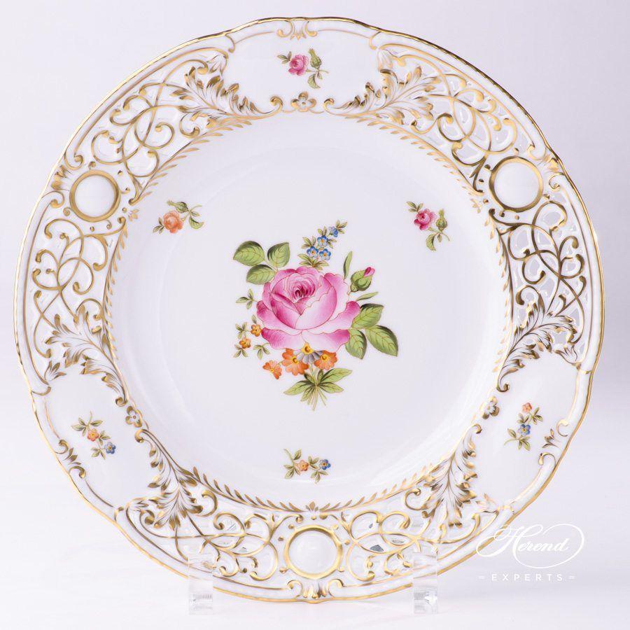 挂墙装饰盘 – 小束玫瑰 – 赫伦细瓷