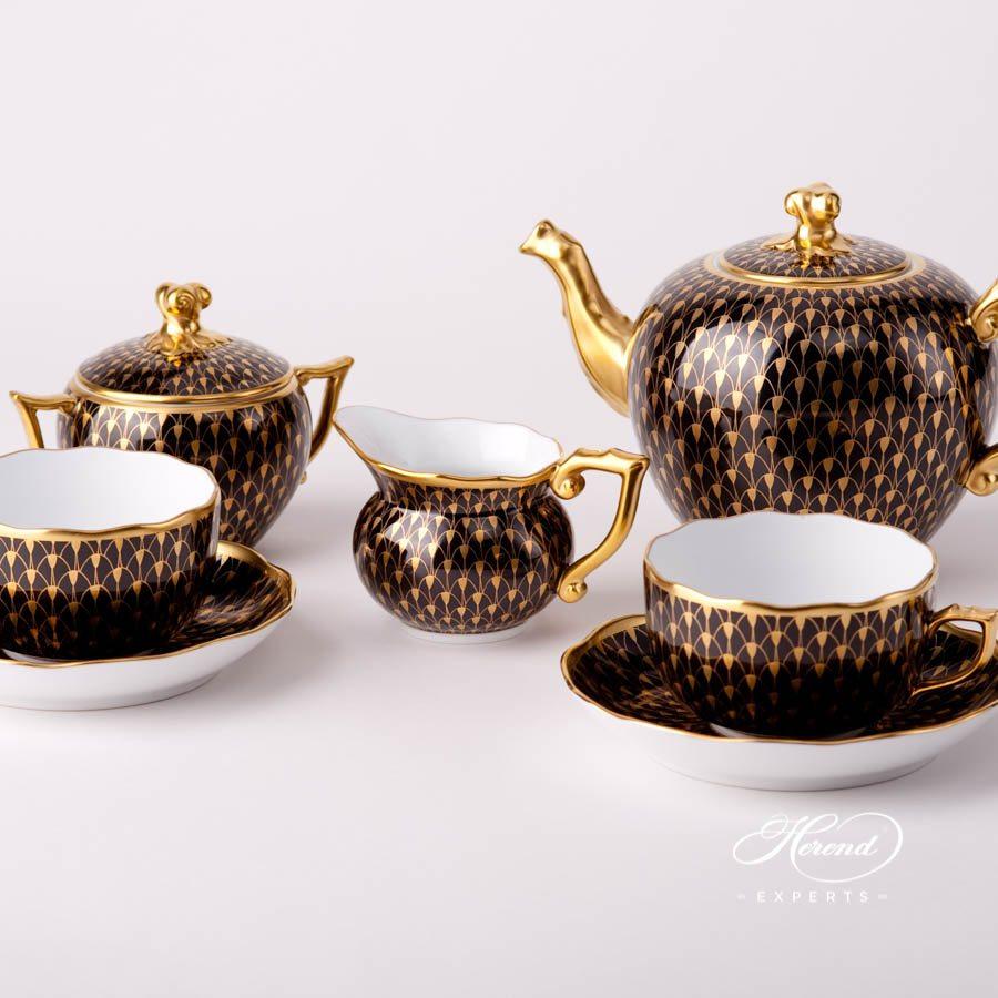 奶缸 – 金色鱼鳞纹 – 赫伦细瓷