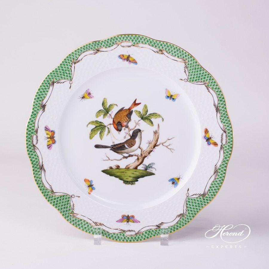 分餐盘– 罗丝柴尔德鸟 绿色鱼鳞纹- 赫伦细瓷