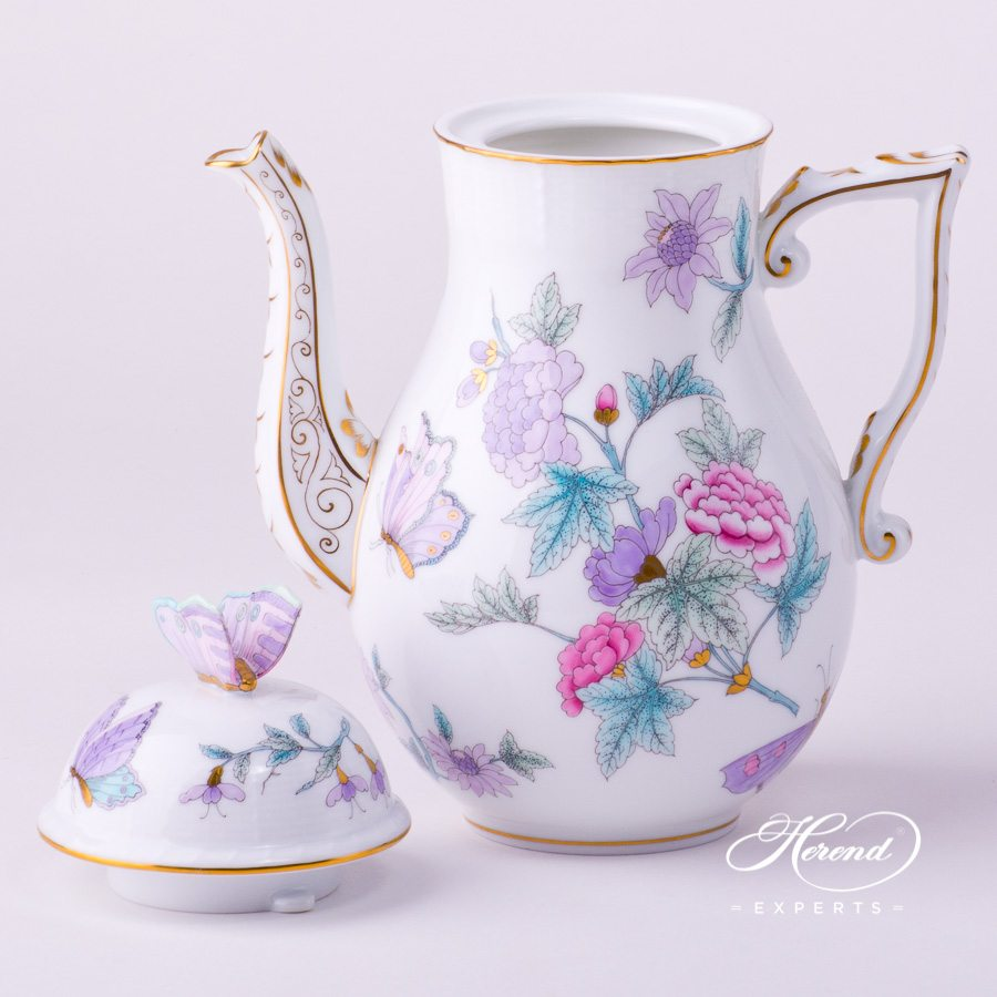 咖啡壶 – 皇家花园绿松石 – 赫伦细瓷