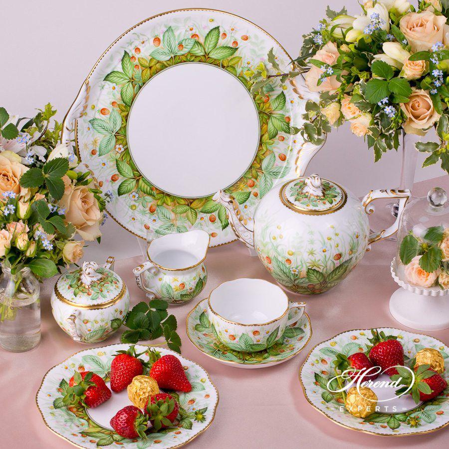 茶壶 – 草莓- 赫伦细瓷