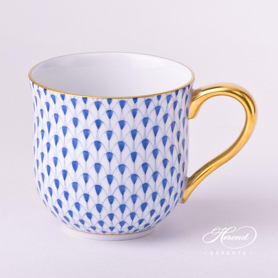 通用杯 – 藏青色鱼鳞纹 – 赫伦细瓷