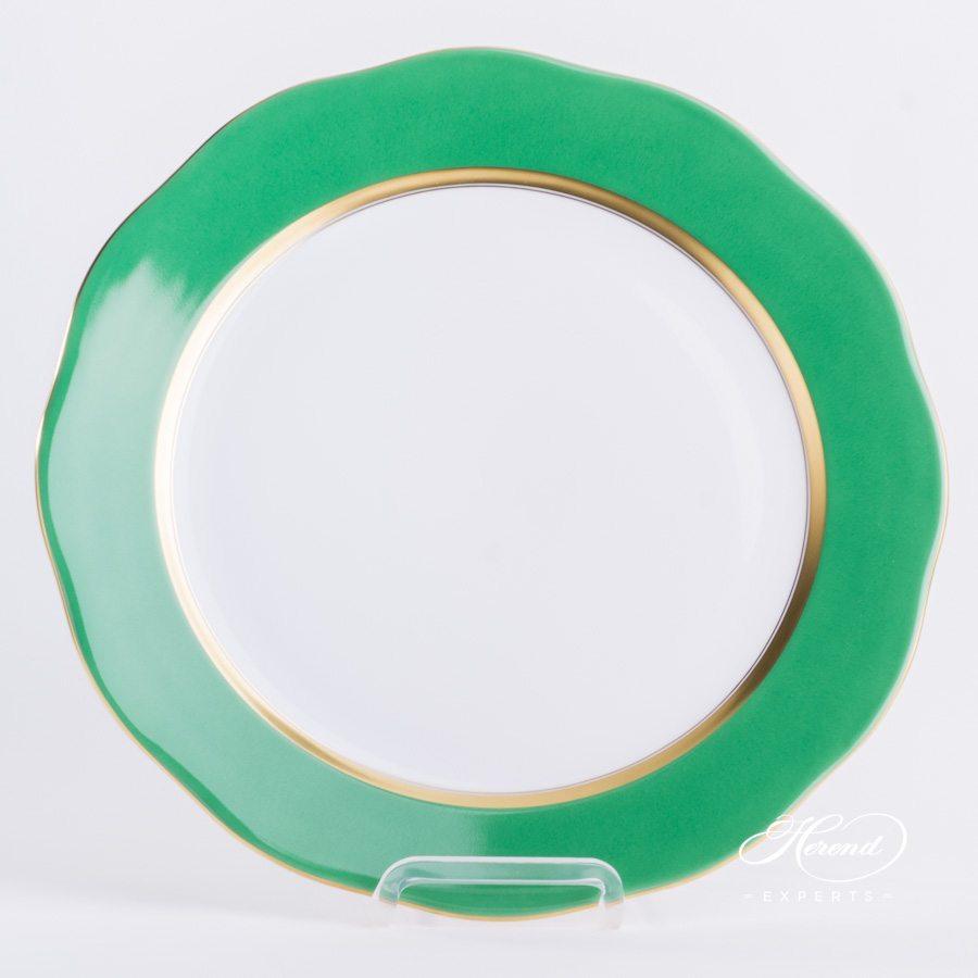 分餐盘 – 绿色边缘 – 赫伦细瓷