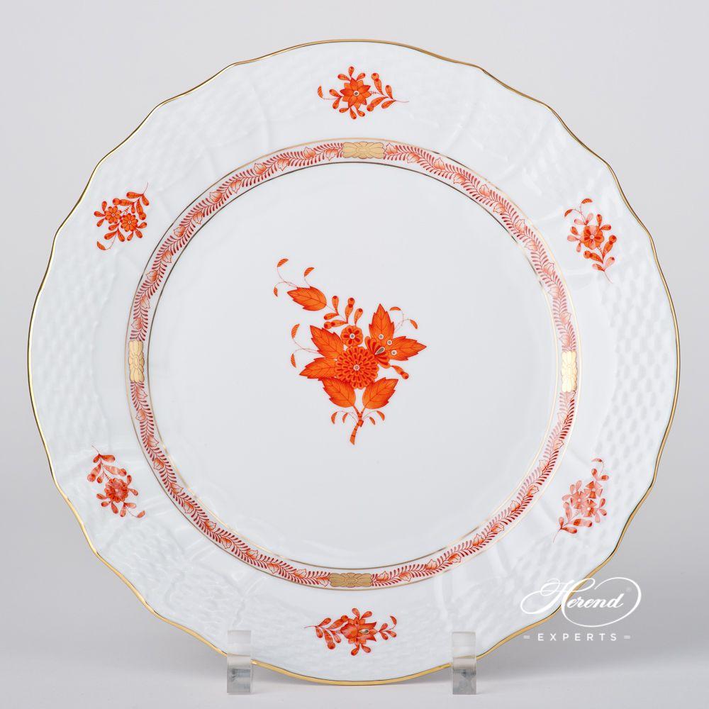 分餐盘–中国花束 铁锈 /阿波尼橙色-赫伦细瓷