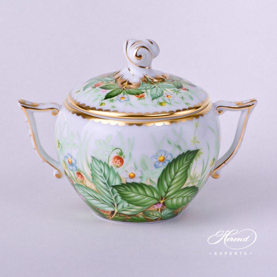 糖罐 – 草莓 – 赫伦细瓷