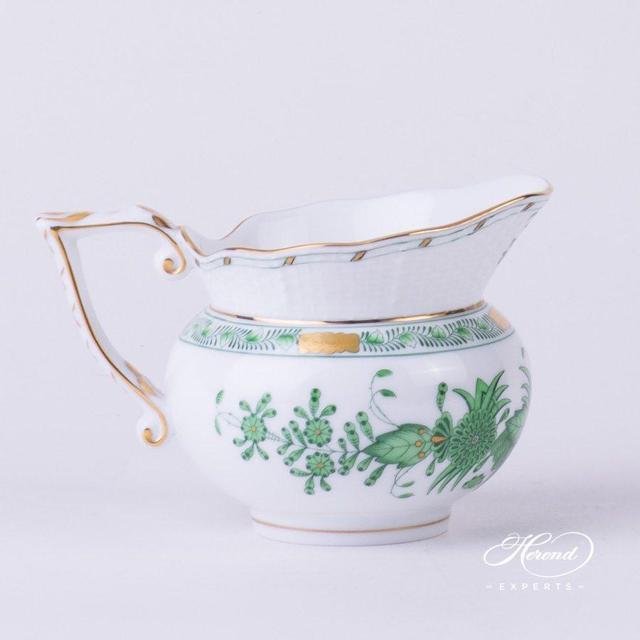 奶缸 – 印度花篮绿色 – 赫伦细瓷