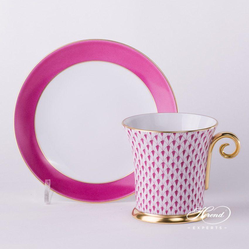 茶杯 – 鱼鳞纹 – 紫色 – 赫伦细瓷