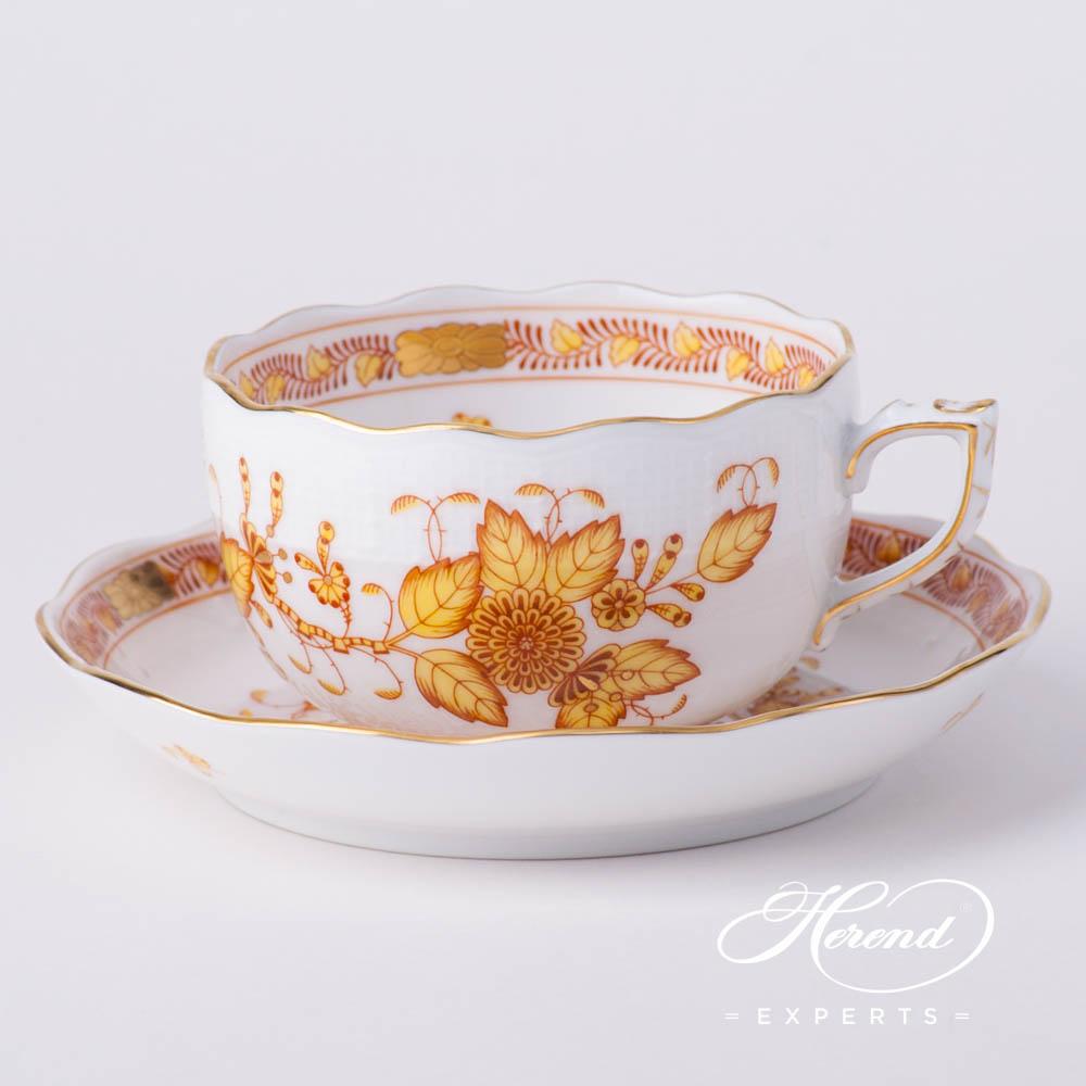 茶杯 – 经典– 印度花篮黄色 – 赫伦细瓷