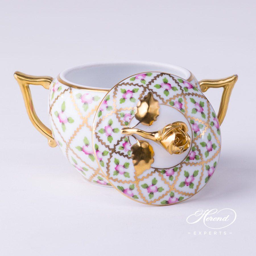 糖罐 – 赛弗勒玫瑰 -赫伦细瓷
