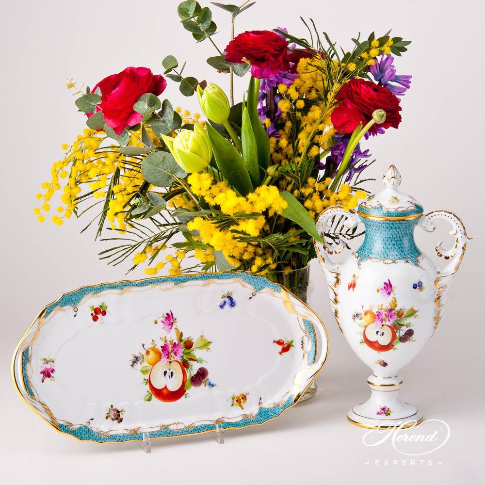 带盖精品花瓶 – 鱼鳞纹 水果 – 赫伦细瓷