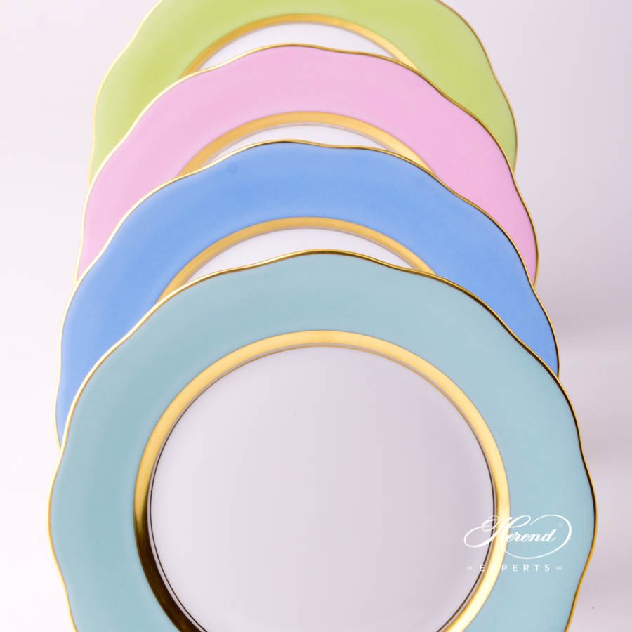 甜点碟 – 绿色边缘 – 赫伦细瓷