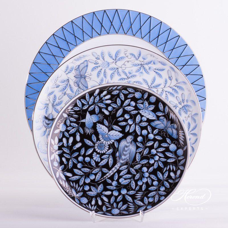 餐位餐具4件 – 蓝色动物园 – 赫伦细瓷