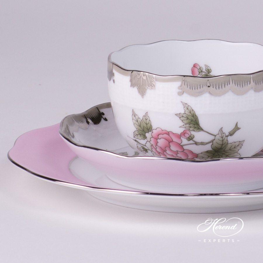 基础茶具套装 单人用 – 维多利亚女王白金款 – 赫伦细瓷