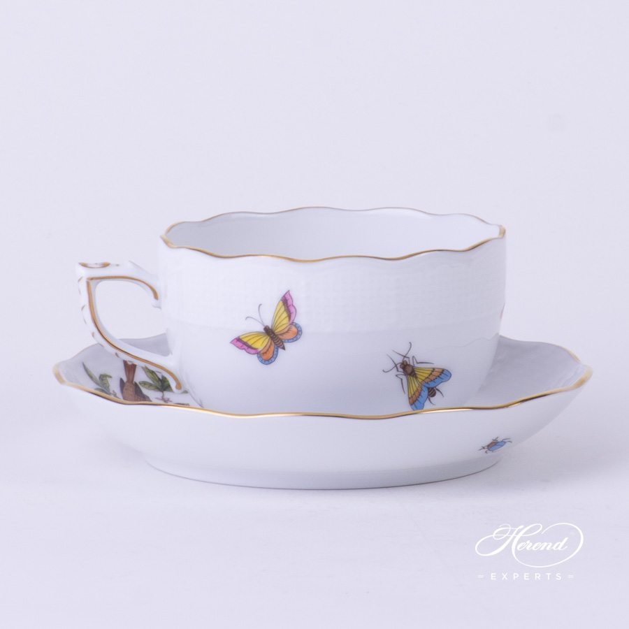 茶杯 – 罗丝柴尔德鸟 – 赫伦细瓷