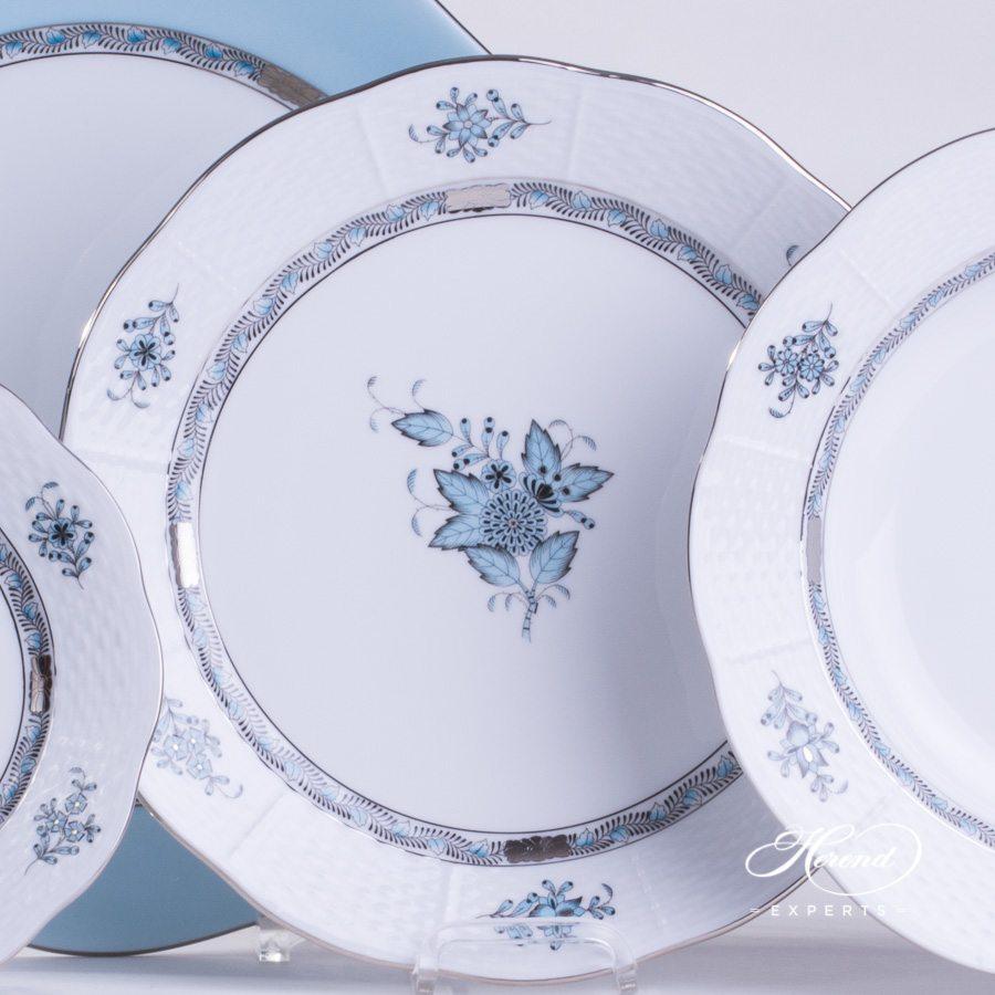 四件套餐位餐具 – 中国花束 / 阿波尼绿松石 – 赫伦细瓷