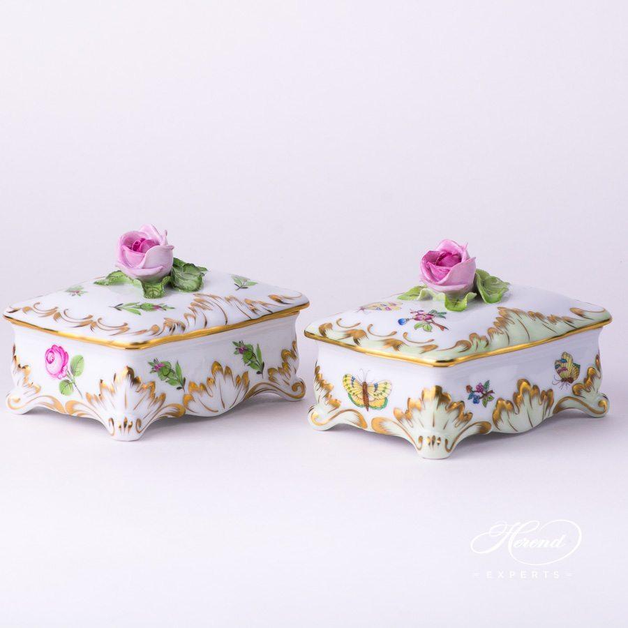 带盖万宝盒– 维多利亚女王VBA – 赫伦细瓷