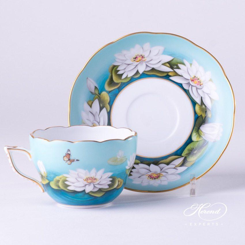 基础茶具套装 – 睡莲 – 赫伦细瓷