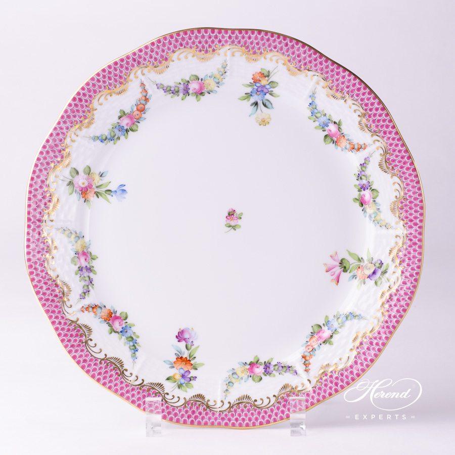 餐盘 – 花环 紫色鱼鳞 – 赫伦细瓷
