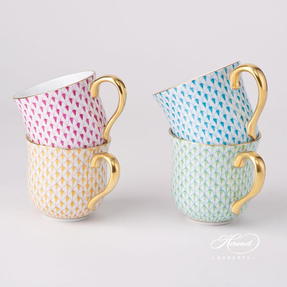 通用杯 – 绿松石色鱼鳞纹 – 赫伦细瓷