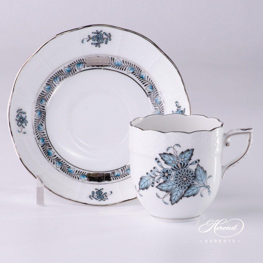 咖啡杯 – 中国花束 / 阿波尼绿松石 – 赫伦细瓷