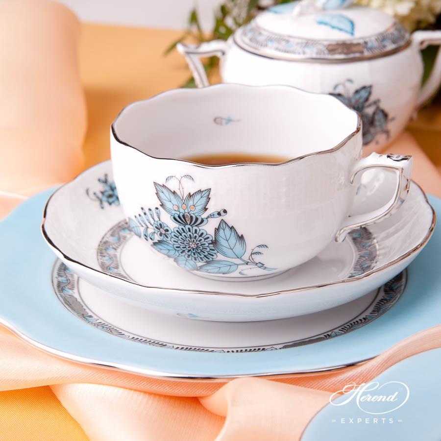 茶杯 – 中国花束 / 阿波尼绿松石 – 赫伦细瓷