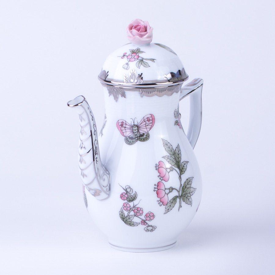 咖啡壶 – 维多利亚女王白金款 – 赫伦细瓷