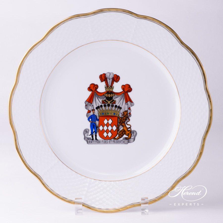 甜点盘 – Hadik w. Coat of Arms – 赫伦细瓷