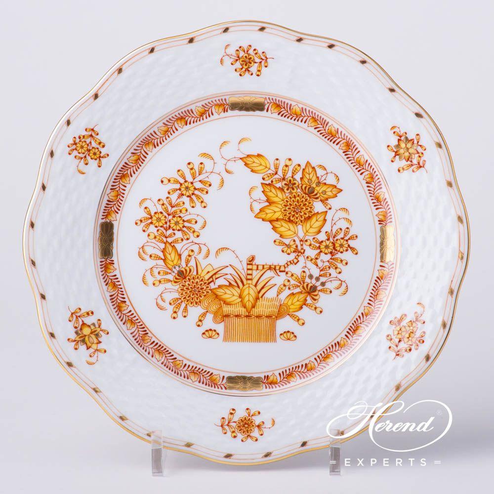 甜点盘 – 印度花篮黄色 – 赫伦细瓷