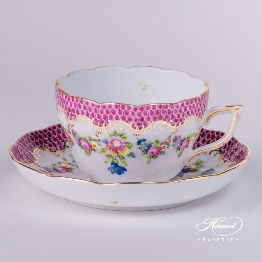 茶杯 – Flower Garland 紫色鱼鳞 – 赫伦细瓷