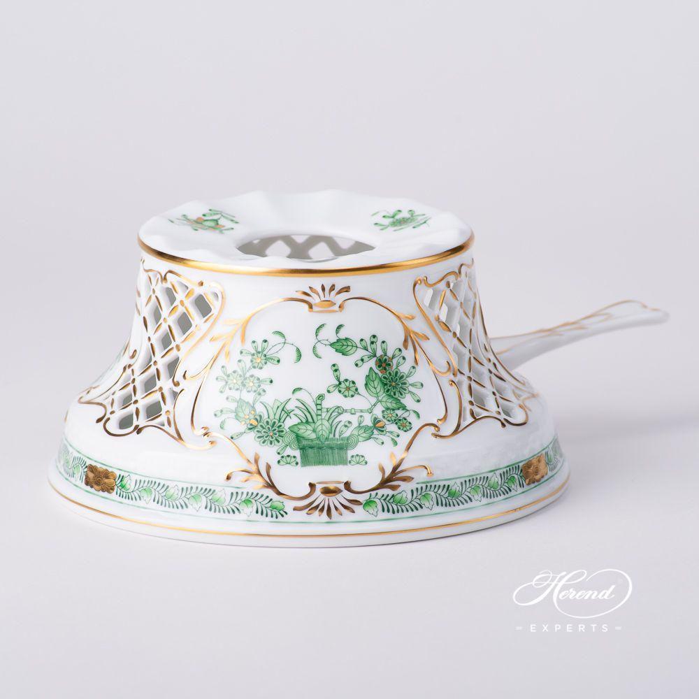 茶炉 – 印度花篮绿色 – 赫伦细瓷