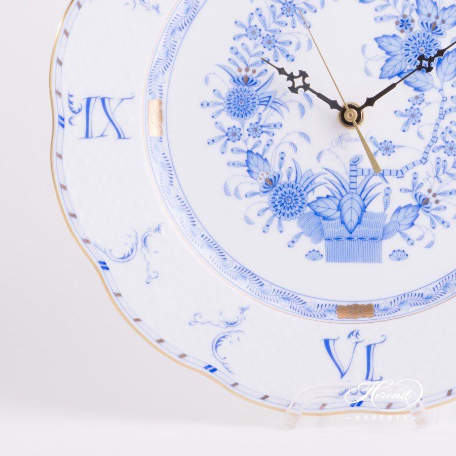 挂钟 –印度花篮 蓝色 – 赫伦细瓷