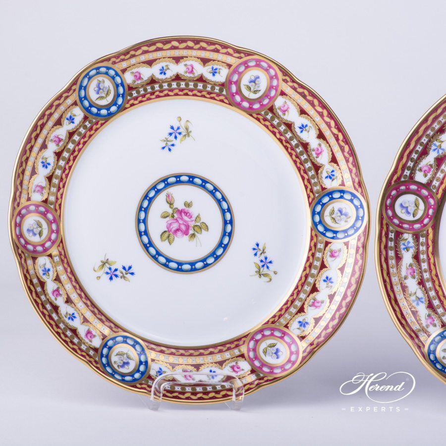 甜点盘 2 件– 织锦蔷薇 – 赫伦细瓷