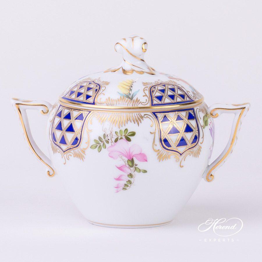 糖罐 – 马赛克花 – 赫伦细瓷