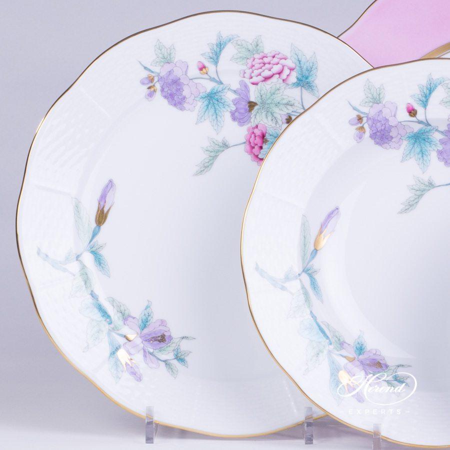 餐位餐具4件 – 2 图案– 皇家花园绿松石 – 赫伦细瓷