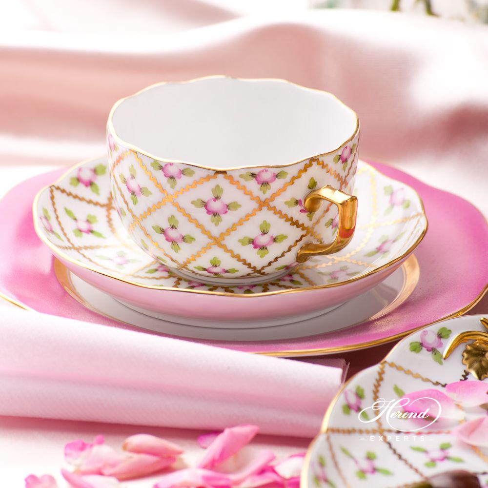 茶杯 – 赛弗勒玫瑰 – 赫伦细瓷