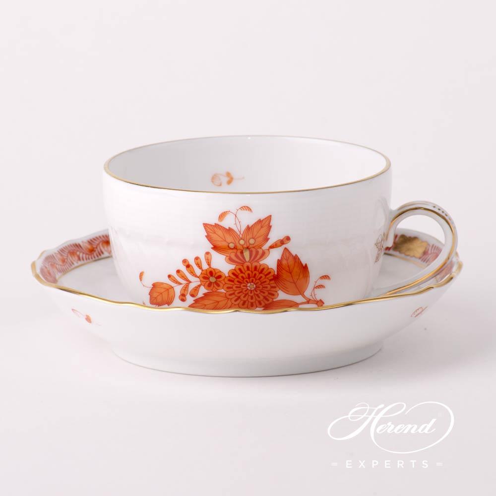 茶杯 –中国花束绣橙/阿波尼橙色 – 赫伦细瓷