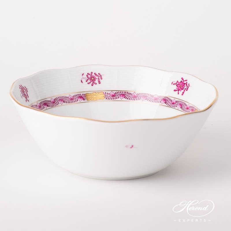 碗 – 中国花束梅子色/阿波尼紫色 – 赫伦细瓷