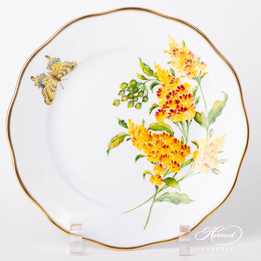 甜点盘 – 美国野花 / 红花山桃草 – 赫伦细瓷