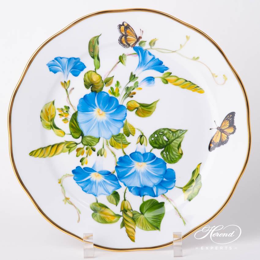 餐盘 –美国野花/牵牛花(尼翁) – 赫伦细瓷
